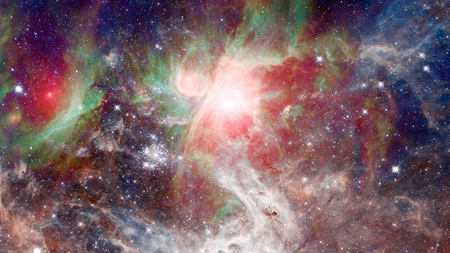 Cosmic art, beautiful science fiction wallpaper with endless deep space. Elements of this image furnished by NASA