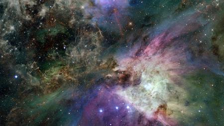 Bella nebulosa, universo misterioso e stelle luminose nello spazio. Elementi di questa immagine fornita dalla NASA Archivio Fotografico