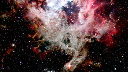 Nebula night sky. 免版税图像