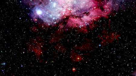 Billions of galaxies in the universe. Abstract space background.