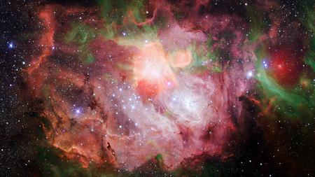 Nebula night sky. Stock Photo