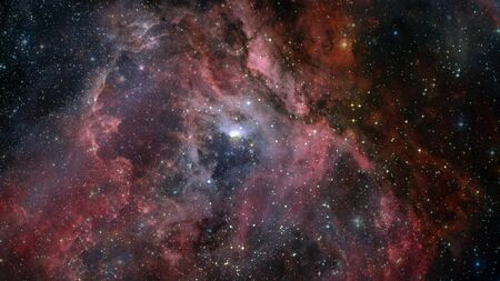 Infinite space background with nebulas and stars. Stock fotó