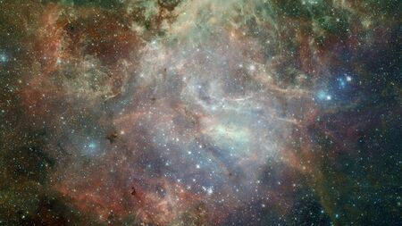 Infinite space background with nebulas and stars. 版權商用圖片