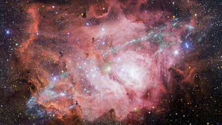 Infinite space background with nebulas and stars. Stock Photo