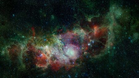High definition star field, colorful night sky space. Nebula and galaxies in space. Astronomy concept background.