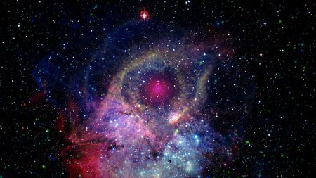 The Helix Nebula in space. Elements of this image furnished by NASA.