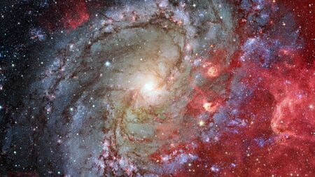 Giant spiral disk of stars, dust and gas. Reklamní fotografie