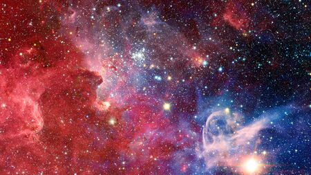Infinite space background with nebulas and stars. Reklamní fotografie