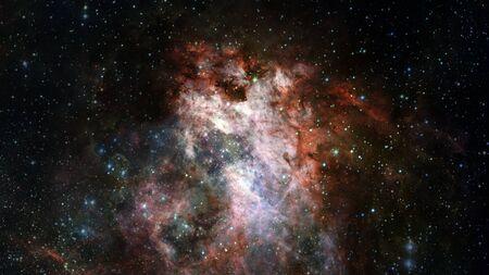 Berstende Galaxie. Standard-Bild