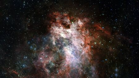 Pękająca galaktyka. Zdjęcie Seryjne
