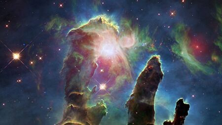 The Pillars of Creation. The Eagle Nebula. Reklamní fotografie
