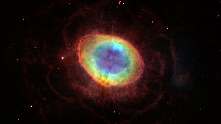 Ring Nebula in constellation of Lyra.