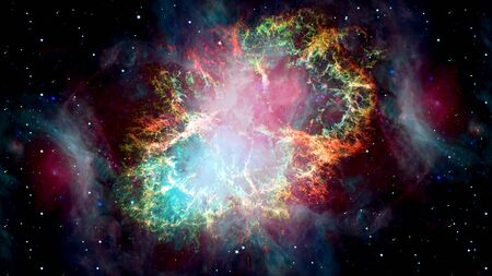 The Crab Nebula is a supernova remnant in the constellation of Taurus.