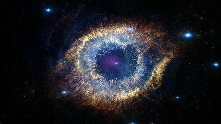 The Helix Nebula in space.