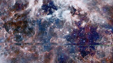 Pleiades in a dark night sky. Archivio Fotografico