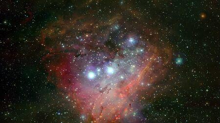 Pleiades in a dark night sky.