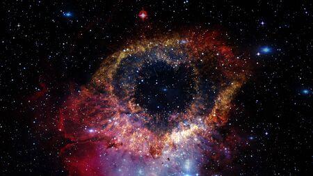 La Nebulosa Helix es una gran nebulosa planetaria ubicada en la constelación de Acuario. Foto de archivo