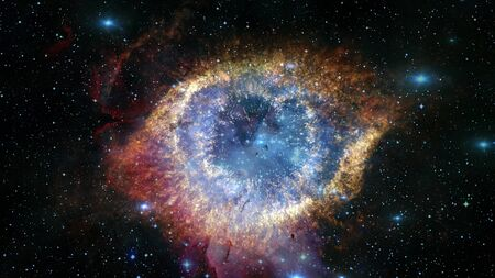The Helix Nebula is a large planetary nebula located in the constellation Aquarius.