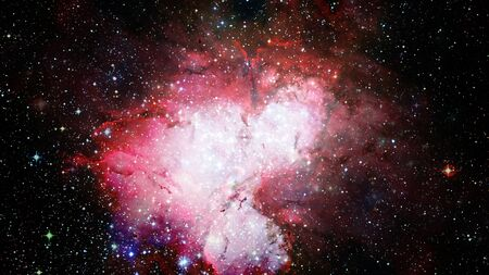 Endless universe, science fiction image, deep space with hot stars, starfields. Incredibly beautiful cosmic landscape.