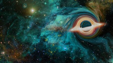Black hole in deep space.