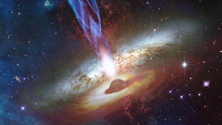 Quasar in deep space.