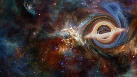 Supermassive black hole. 版權商用圖片