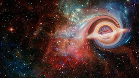 Artistic Representation of Black Hole 版權商用圖片