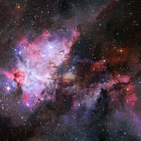Nebula and stars in cosmos space.