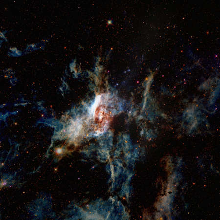 Nebula and stars in deep space.