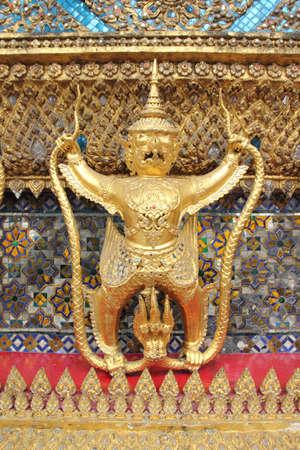 Garuda in Wat Phra Kaew Grand Palace of Thailand photo