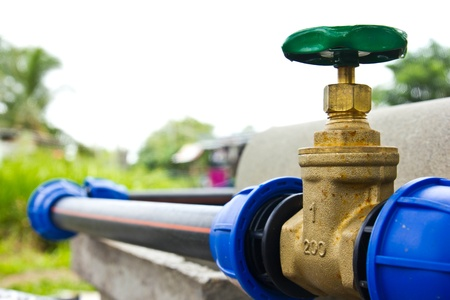 water hose: water valve