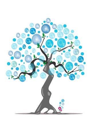 oxygen tree  Illustration