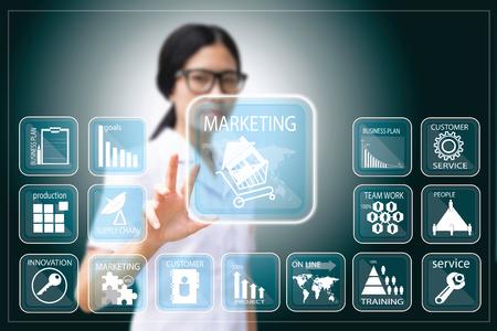 business woman , Businesswoman making presentation Stock Photo