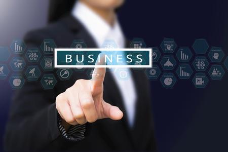 logistics: business woman Stock Photo
