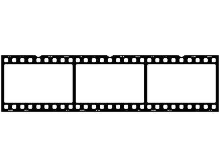 3x film strip photo Banco de Imagens