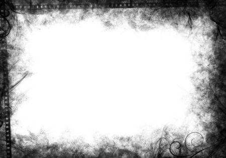 Black grunge border Banco de Imagens