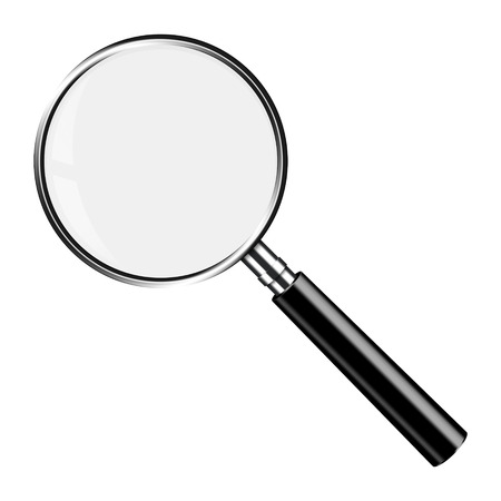 magnifying glass: Realistic Vector Magnifying Glass