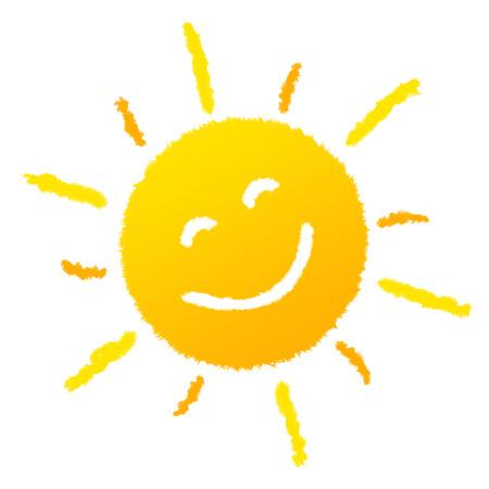 太陽が笑っています。 写真素材