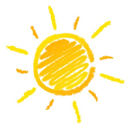 Sun illustration isolated in white  Zdjęcie Seryjne