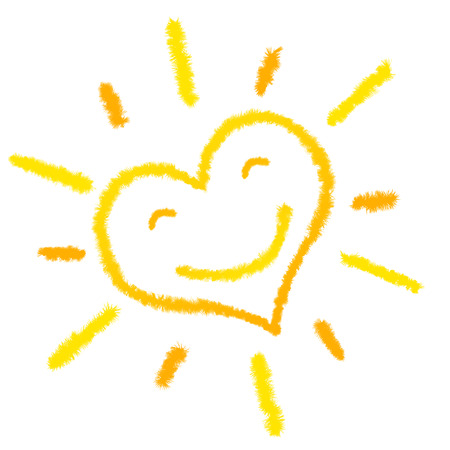 heart sun laughing