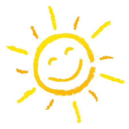 weather cartoon: sun, laughing