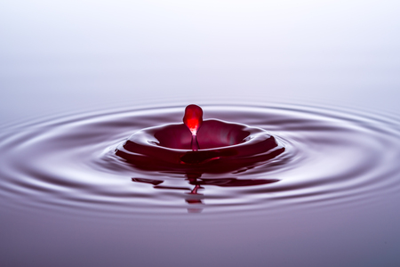 Water drops, drops, red