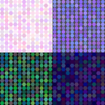 Set of coloured abstract vector backgrounds in light colors Vector