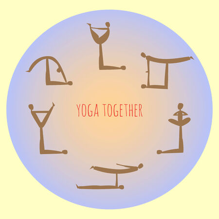 practice: Yoga practice, vector illustration for your design