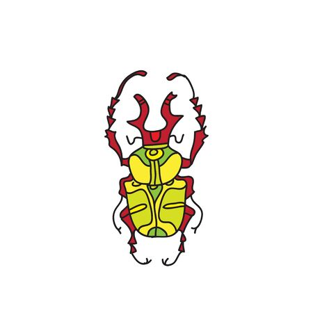vector colored beetle icon for design Illustration