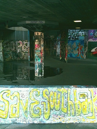 southbank: Save Southbank Skatepark Stock Photo