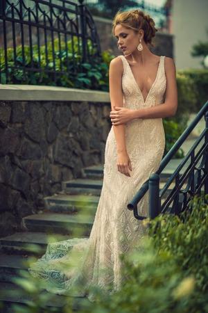 chastity: Wedding day. Beautiful bride in the garden