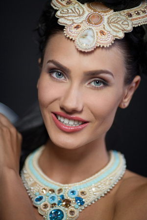 jewerly: beautyful woman portrait with jewerly and diamonds