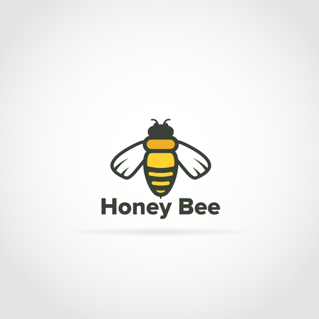 Honey Bee Logo Illustration
