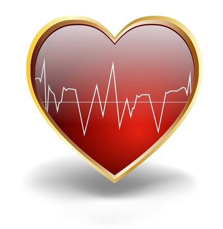 physical pressure: Illustration of Concept of healthy heart Stock Photo